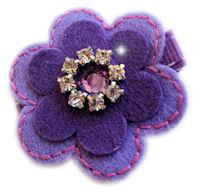 Evie - Purple Rhinestone