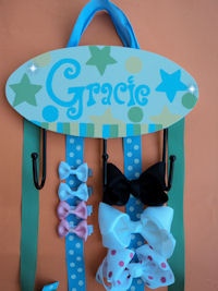 HeadBand + Bows Holder - Gracie (Stars)