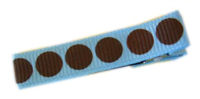 Gymbo Dots - Blue with Brown Dots