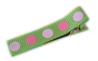 Gymbo Dots - Hot Green with Pink Dots