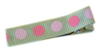 Gymbo Dots - Soft Green with Shades of Pink Dots