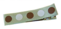 Gymbo Dots - Soft Green with Brown & White Dots