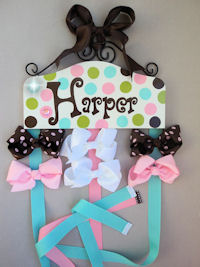 Fun with Dots Bow Holder - Harper