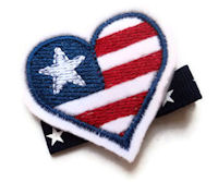 FELT CLIP - Patriotic Heart