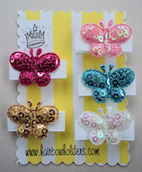 Infant Hair Pretties - Set of 5 - Butterfly Sparkle I