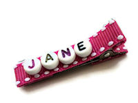 Alphabet Hair Clips - Up to 5 letters only