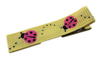 Cool Clips - LadyBug - Pink on Yellow