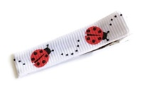Cool Clips - LadyBug - Red on White