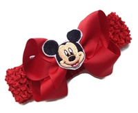 Mickey Mouse Hair Bow + Headband Kit - Red