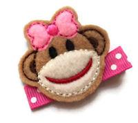 FELT CLIP - Monkey Girl Pink