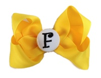 Basic Bows - MONOGRAM - Everyday Yellow Mustard and Black/White