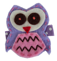 FELT CLIP - OWL - Lavender on Dots