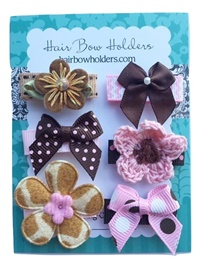 Infant Hair Pretties - Set of 6 - Pinks and Browns