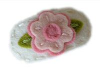 Sweet Snaps - Baby Flower on Antique White Felt