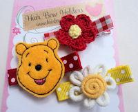 FELT CLIP - Pooh Bear Gift Set