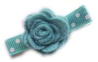Felt Dimensional FLOWERS - ROBINS EGG BLUE