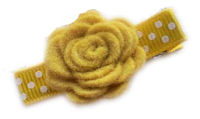 Felt Dimensional FLOWERS - FALL YELLOW