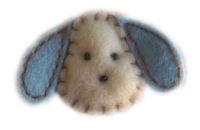 FELT CLIP - Soft Puppy