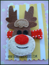 FELT CLIP - Rudolph!