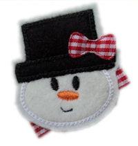 FELT CLIP - Snowman FACE