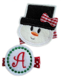 Felt Snowman Face PLUS Snowball Team - Monogram