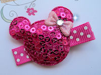 SPARKLE PRINCESS - Minnie - HOT PINK on Dots