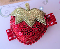 SPARKLE PRINCESS - Strawberry - RED on Stitch
