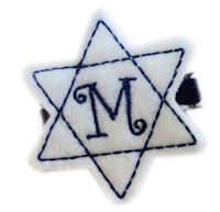 Inventory Sale - Star of David - WHITE and NAVY - Monogram