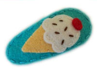 Sweet Snaps - Ice Cream on Turquoise Felt