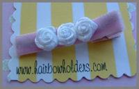 Roses - White on baby pink velvet