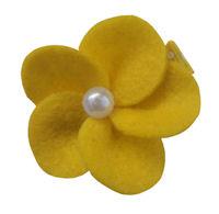 FELT CLIP - Tessa - Yellow