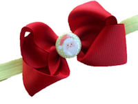 Santa Clause Set - Bow and Headband