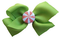 Peppermint Candy - Green Bow