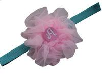Headbands - Tutu Monogram - Cotton Candy