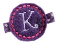 Monogrammed Gumball -  FELT CLIP - Purple
