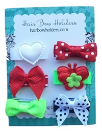Infant Hair Pretties - Set of 6 - Christmas Fun