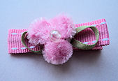 Fuzzy Pink Flower on Pink Stitch